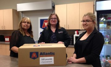 Atlantic Beef Products provides first donation from BurgerLove Day to PEI Food Banks