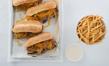 Make Ahead Island Cheesesteak Sandwiches