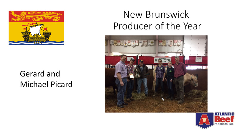 New Brunswick Beef Producer of the Year