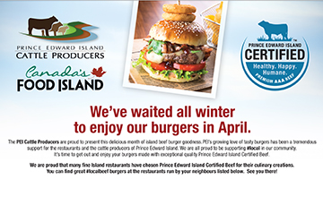 Enjoy our burgers this April ad