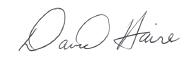David Haire signature