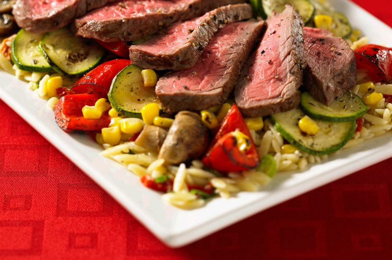 Broiled Steak Sheet-pan Dinner